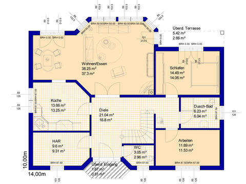 Haus RB125 Grundriss Erdgeschoss