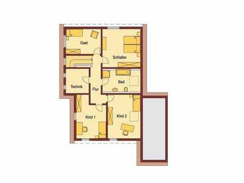 Einfamilienhaus mit Einliegerwohnung - WOLF System Haus Grundriss DG