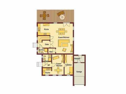 Einfamilienhaus mit Einliegerwohnung - WOLF System Haus Grundriss EG