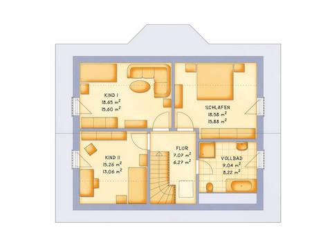 Haustyp VarioFamily 137 Grundriss Dachgeschoss