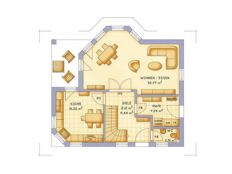 Haustyp VarioFamily 137 Grundriss Erdgeschoss