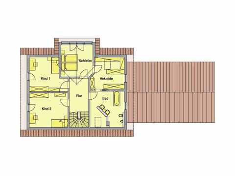 Individuell geplantes Kundenhaus - WOLF System Haus Grundriss DG