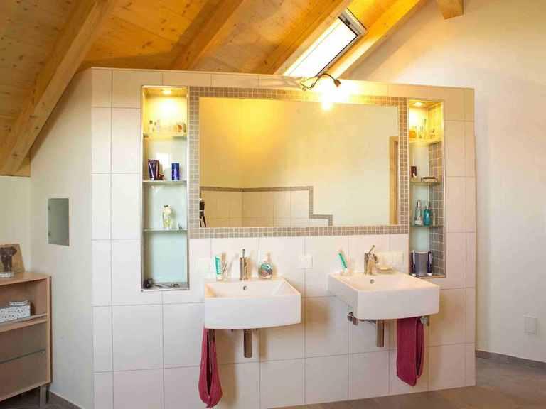 Individuell geplantes Kundenhaus - WOLF System Haus Badezimmer
