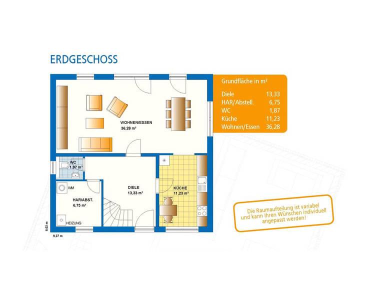 Grundriss Haus Akzent 1 Erdgeschoss