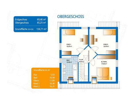 Grundriss Haus Akzent 1 Obergeschoss