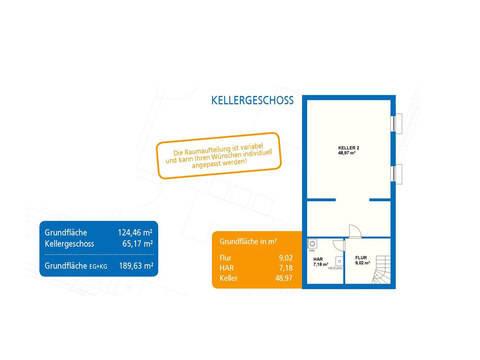 Bungalow Exquisit 4 Grundriss Kellergeschoss