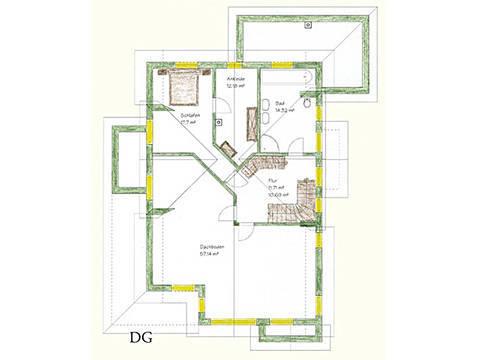 Haus Idee N05 Nordisch Grundriss Dachgeschoss