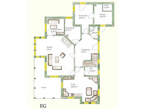 Haus Idee N05 Nordisch Grundriss Erdgeschoss