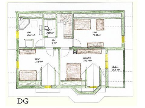 Haus Idee N04 Nordisch Grundriss Dachgeschoss