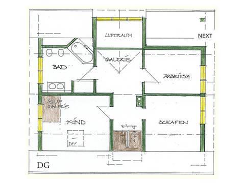 Haus Idee N03 Nordisch Grundriss Dachgeschoss