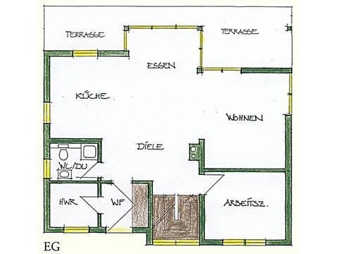 Haus Idee N03 Nordisch Grundriss Erdgeschoss