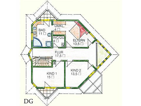 Haus Idee M05 Modern Grundriss Dachgeschoss
