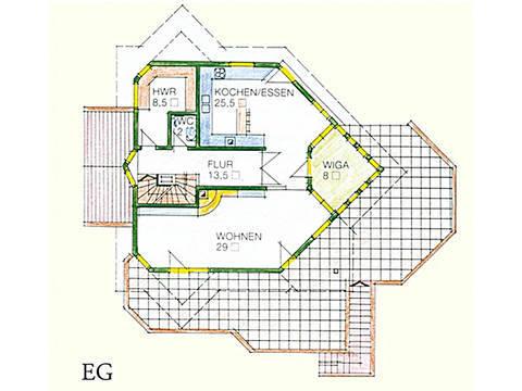 Haus Idee M05 Modern Grundriss Erdgeschoss
