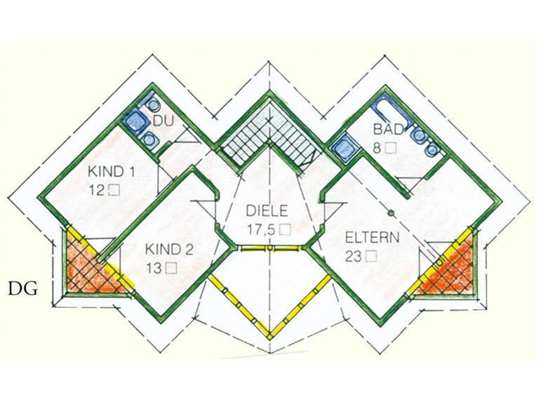 Haus Idee M04 Modern Grundriss Dachgeschoss