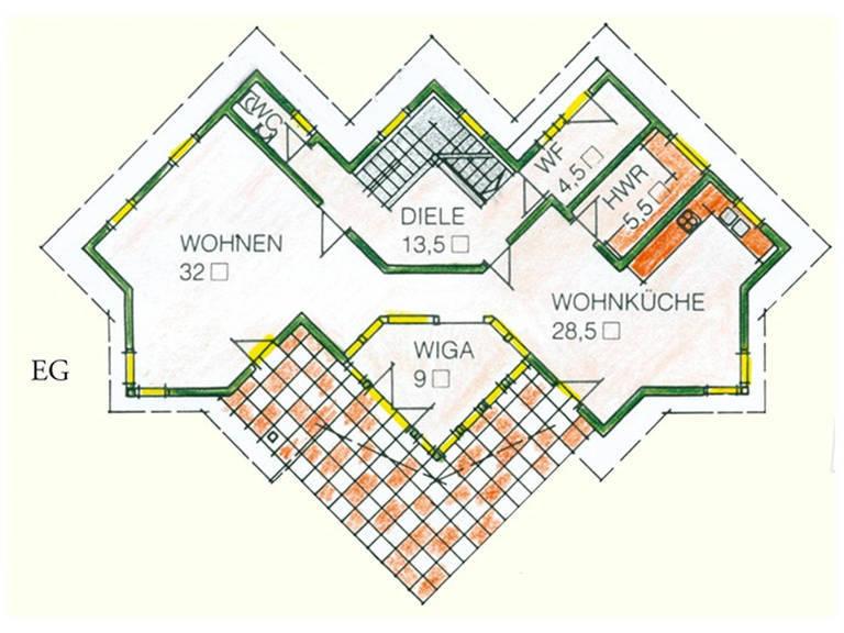 Haus Idee M04 Modern Grundriss Erdgeschoss