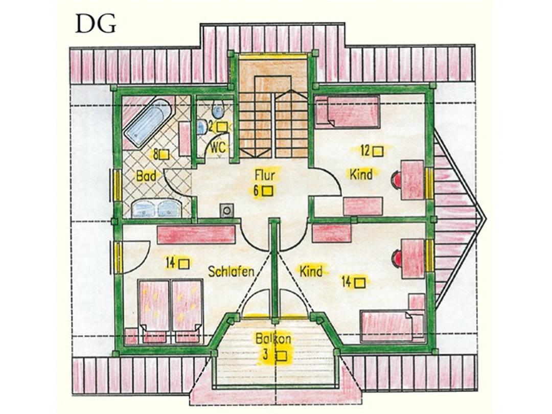 Haus Idee MPN Modern Grundriss Dachgeschoss