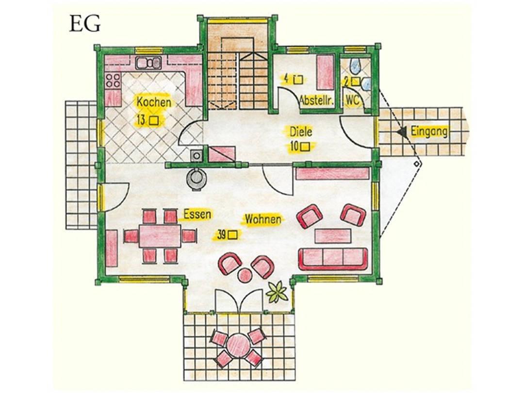 Haus Idee MPN Modern Grundriss Erdgeschoss