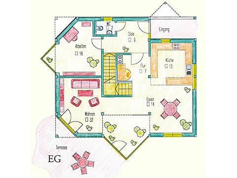 Haus Idee Pro Vita Modern Grundriss Erdgeschoss