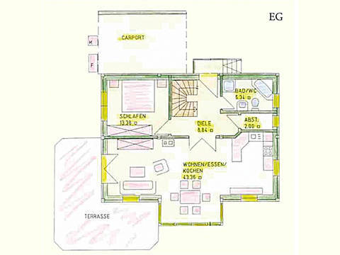 Haus Idee K07 Traditionell Grundriss Erdgeschoss