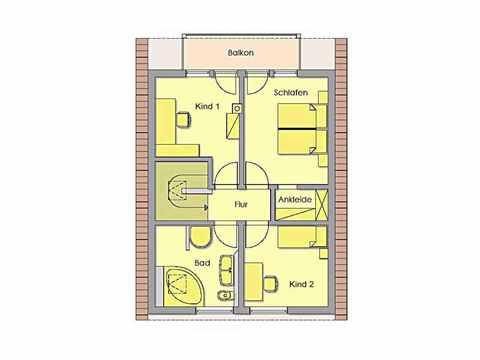 Individuell geplantes Kundenhaus 3 - WOLF System Haus Grundriss DG