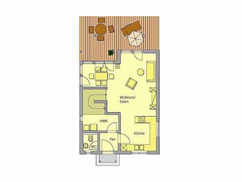 Individuell geplantes Kundenhaus 3 - WOLF System Haus Grundriss EG