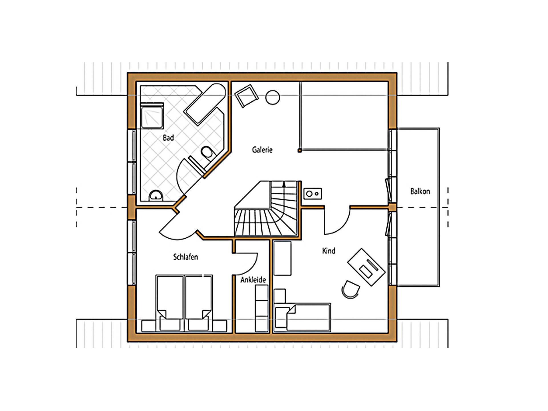 Haus Holz 131 Grundriss Dachgeschoss