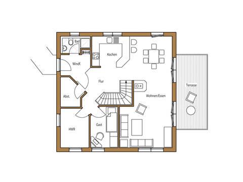 Holz 131 Grundriss Erdgeschoss