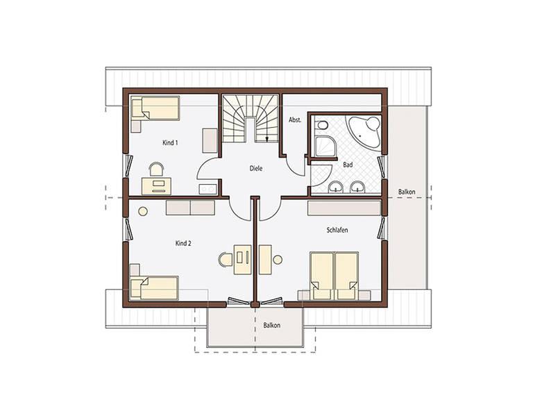 Haus Holz 165 Grundriss Dachgeschoss