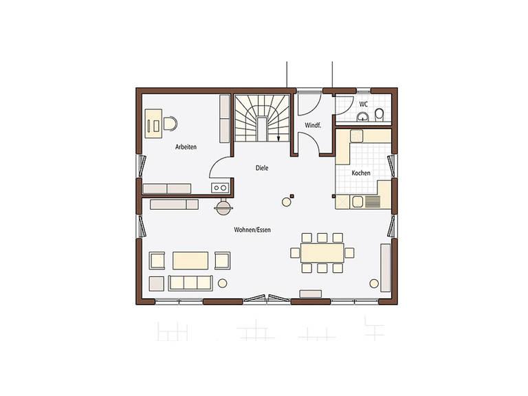 Holz 165 Grundriss Erdgeschoss