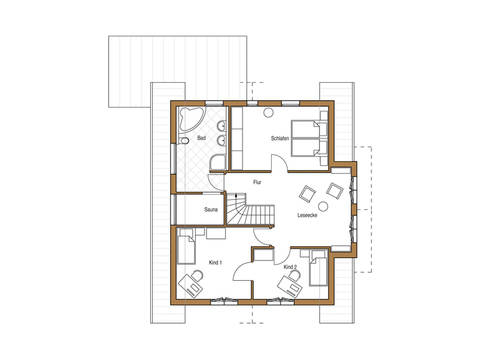 Holz 178 Grundriss Dachgeschoss