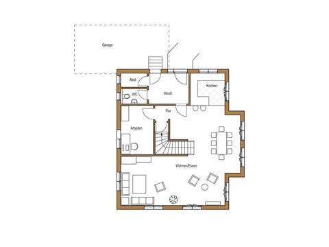 Holz 178 Grundriss Erdgeschoss