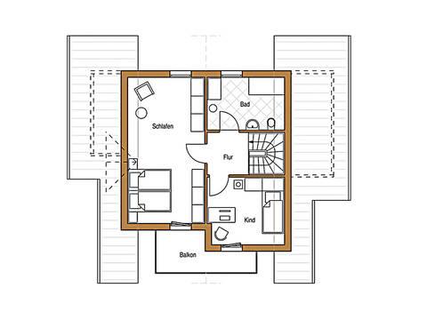 Holz 113 Grundriss Dachgeschoss