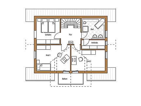 Holz 136 Grundriss Dachgeschoss