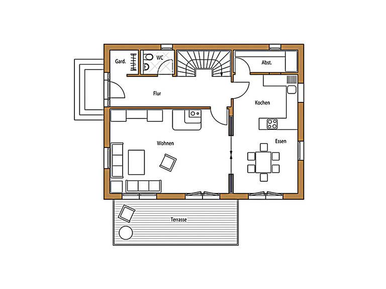 Holz 136 Grundriss Erdgeschoss
