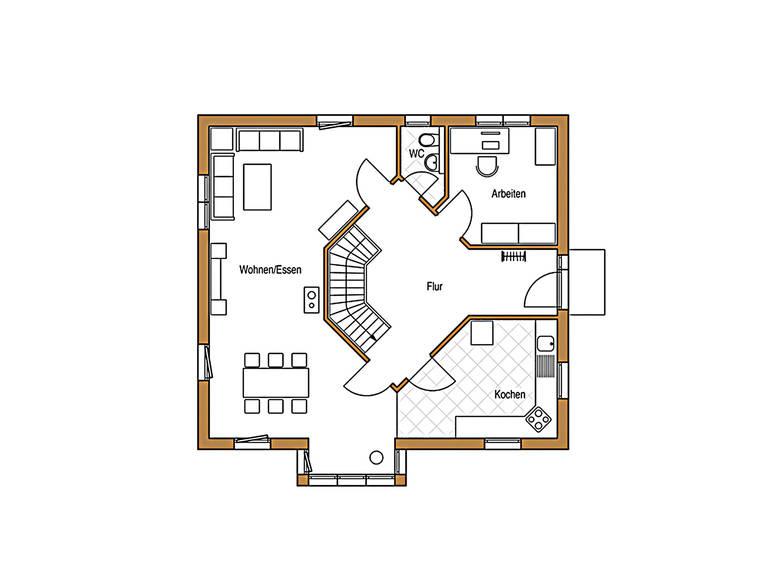 Natur 138 Grundriss Erdgeschoss