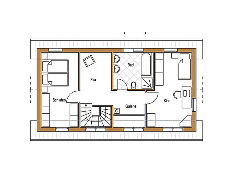 Natur 119 Grundriss Dachgeschoss