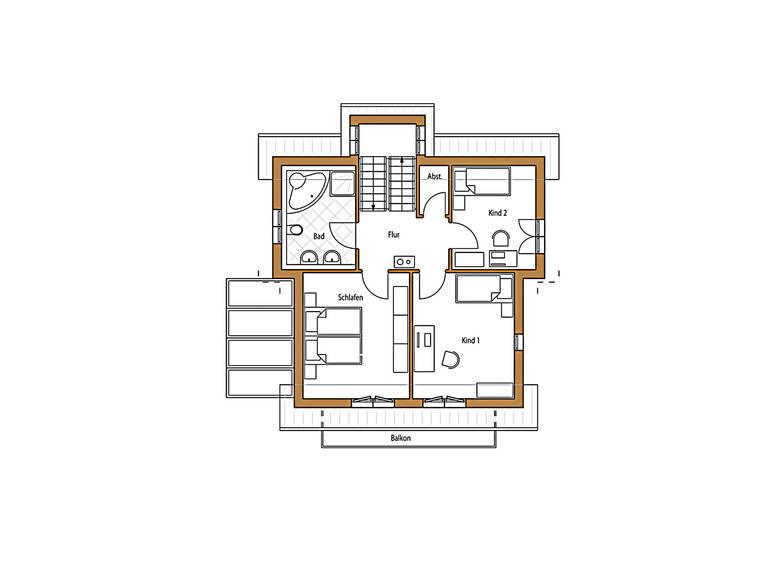 Design 132 Grundriss Dachgeschoss