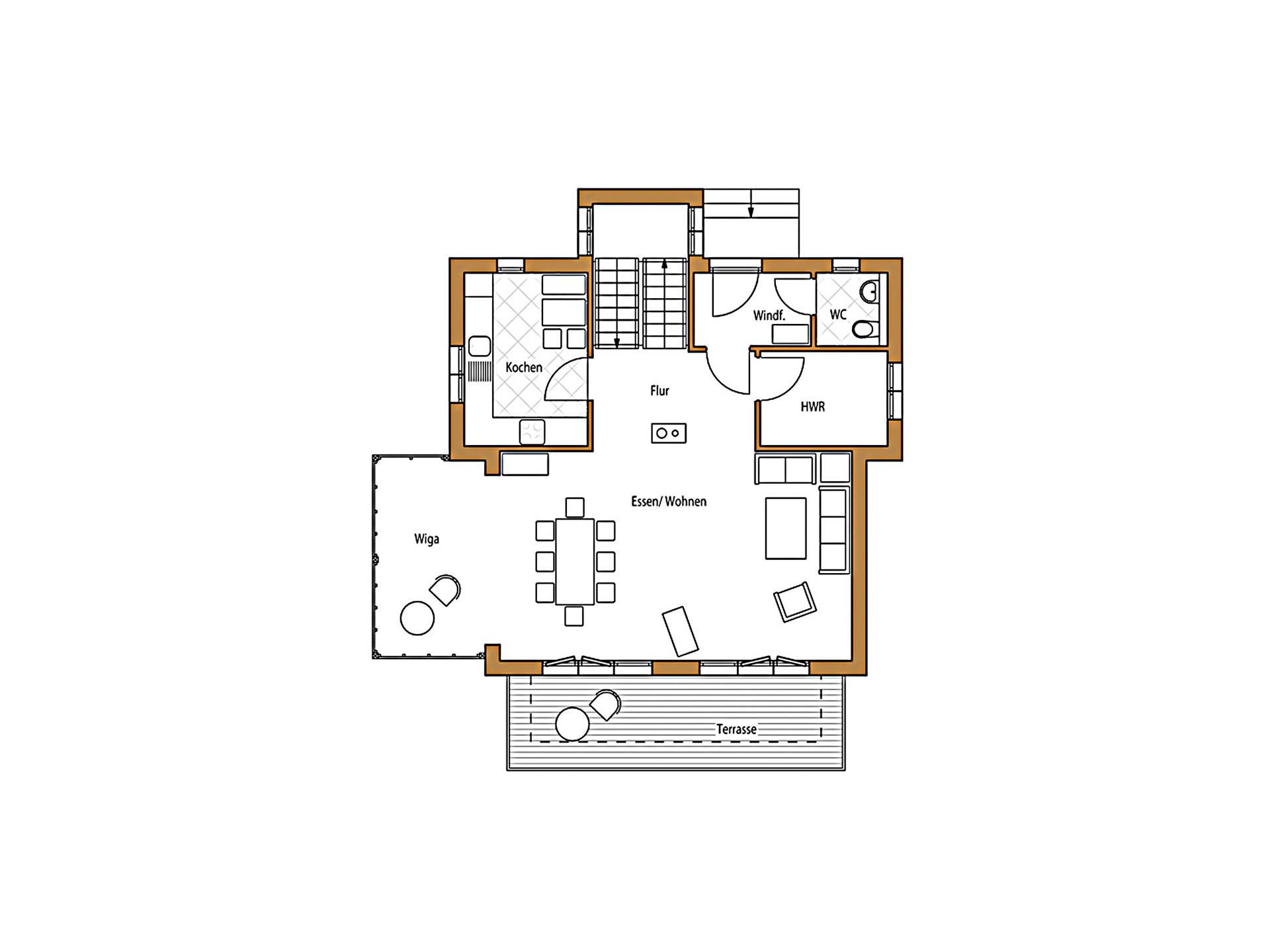 Design 132 Grundriss Erdgeschoss