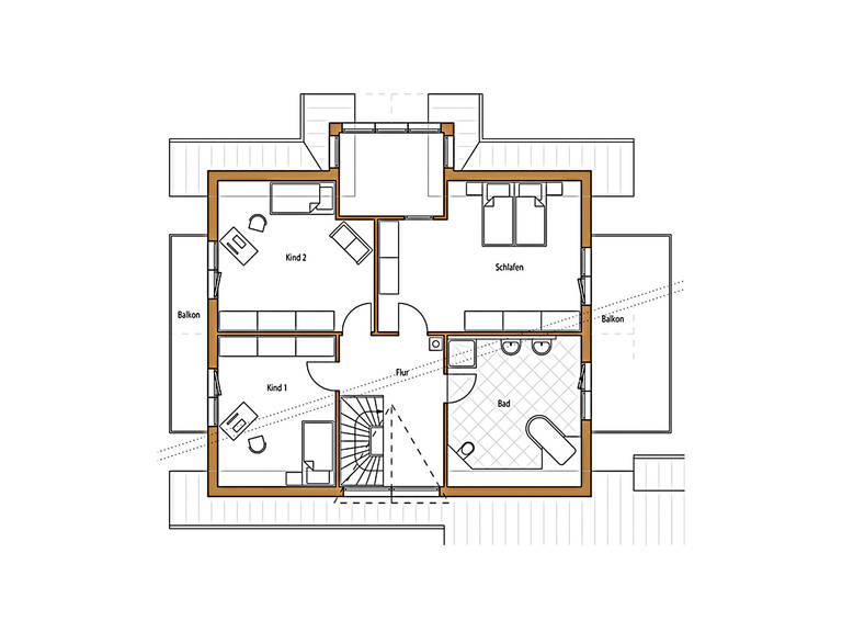 Natur 195 Grundriss Dachgeschoss