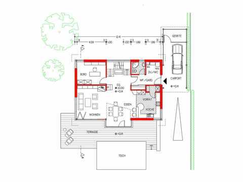 Musterhaus Design 168 von Frammelsberger Holzhaus Grundriss EG