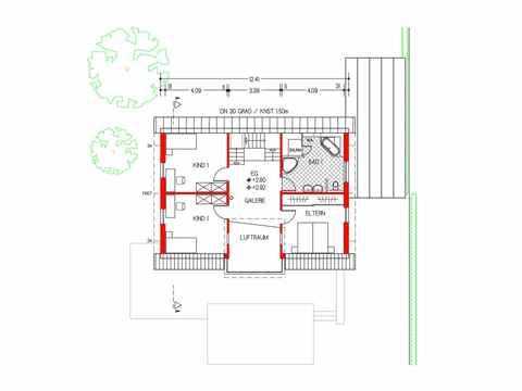 Musterhaus Design 168 von Frammelsberger Holzhaus Grundriss OG