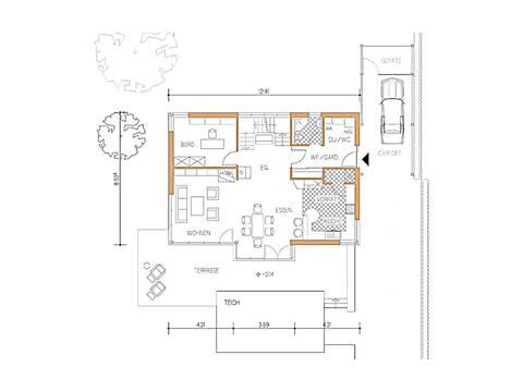 Haus Design 168 Grundriss Erdgeschoss