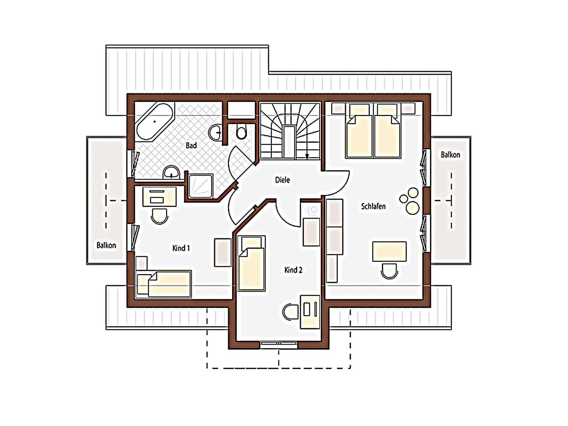Natur 123 Grundriss Dachgeschoss