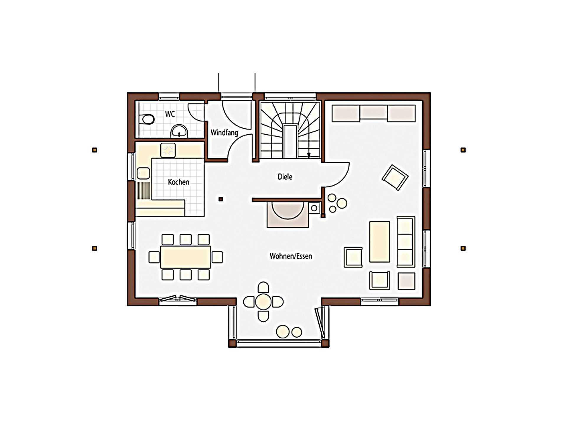 Natur 123 Grundriss Erdgeschoss