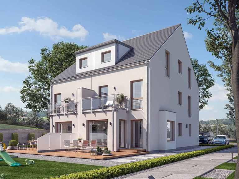 Doppelhaus SOLUTION 117 XL V4 - Living Haus