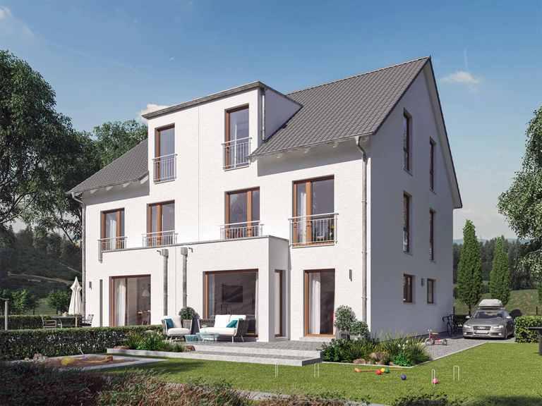 Doppelhaus SOLUTION 124 XL V4 - Living Haus