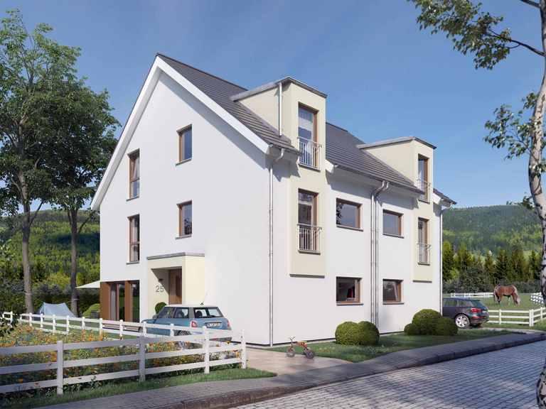 Doppelhaus SOLUTION 125 XL V4 - Living Haus