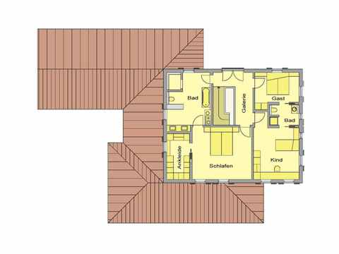 Haus Toskanastil - WOLF System Haus Grundriss DG
