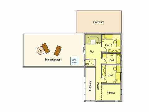 Individuell geplantes Kundenhaus 4 - WOLF System Haus Grundriss DG