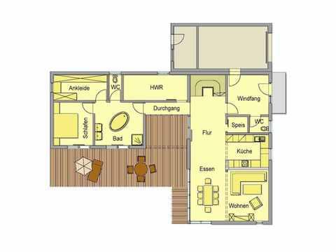 Individuell geplantes Kundenhaus 4 - WOLF System Haus Grundriss EG